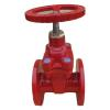 resilient seated non- rising stem fire fighting gate valve