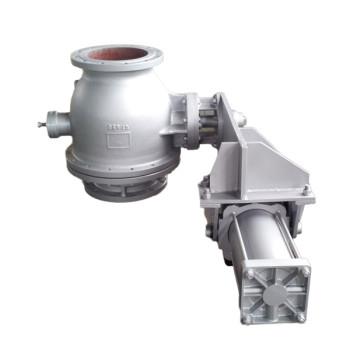 Pneumatic discharge ball valve