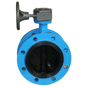 Full lined rubber EPDM midline flanged butterfly valve