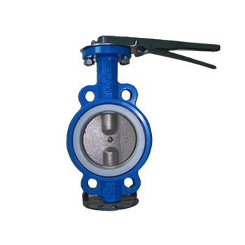 PTFE lined Wafer butterfly valve