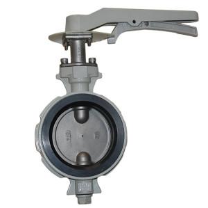 wafer center line butterfly valve against condensation