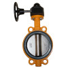 worm gear operated soft back butterfly valve