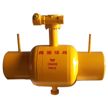 Directly buried welded ball valve