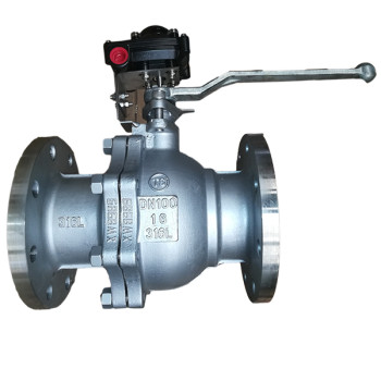 Limit handle stainless steel flange ball valve
