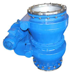 Electric double-layer ash unloading valve