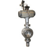 Zero leakage pneumatic stainless steel high temperature butterfly valve