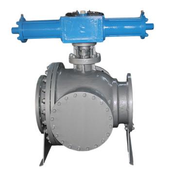 Hydraulic three way ball valve