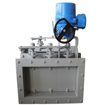 Electric square louver valve
