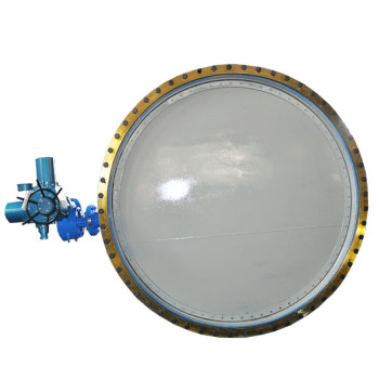 Electric dust butterfly valve