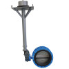Directly buried flange butterfly valve