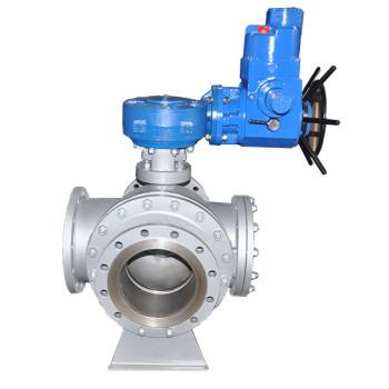 Electric three way ball valve