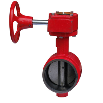 rubber sealing grooved end signal butterfly valve
