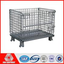 folding wire metal warehouse container Collapsible mesh cage