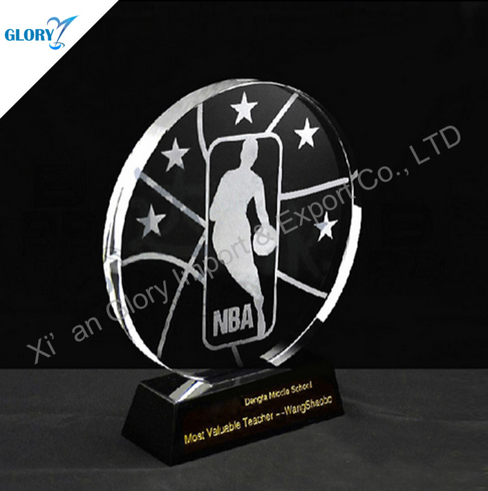 K9 Crystal Basketball Plaques-GLORY AWARD & TROPHY