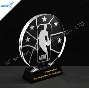 K9 Crystal Basketball Plaques