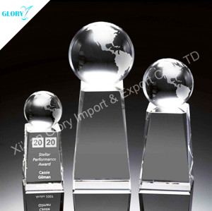 Personalized Globe Crystal Ball Awards