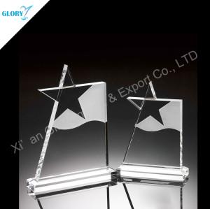 Engraved Star Custom Crystal Awards