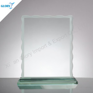 Jade Glass Plaque Trophy