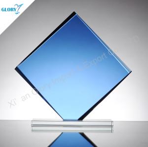 Blue Glass Plaque Engraving