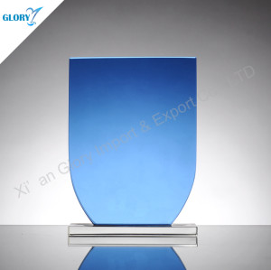 Blue Glass Plaques Personalized