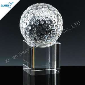 Wholesale Golf Crystal Award