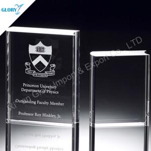 Crystal Book Trophy For Souvenir