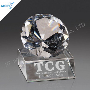 Shinning Diamond Crystal Trophy Award