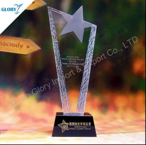 Fashion Star Crystal Award Trophies