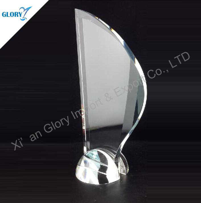 crystal award plaque