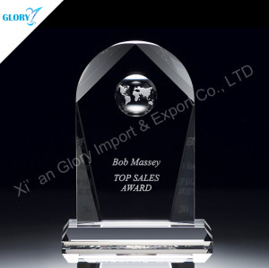 Crystal Corporate Plaques For Award Trophy