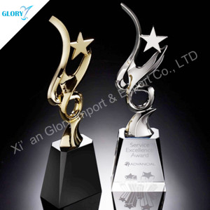 Gold Silver Star Custom Corporate Awards