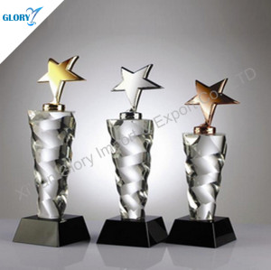 Gold Silver Bronze Star Corporate Trophy Awards
