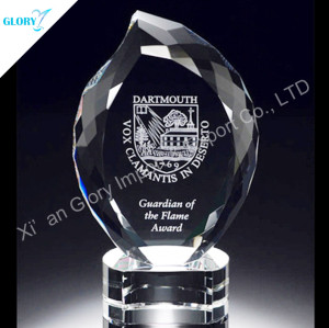 Crystal Flame Shape Corporate Trophies