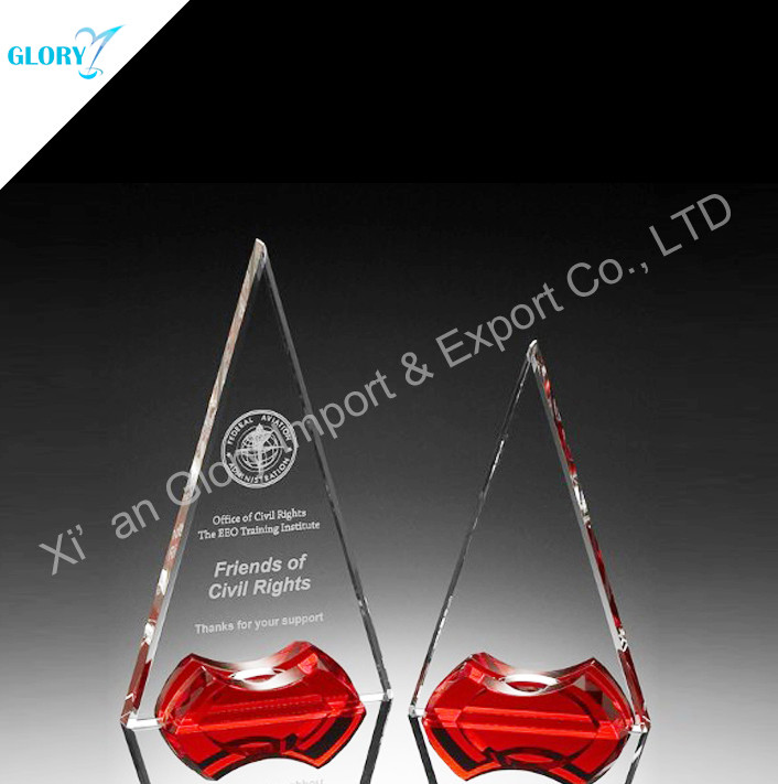 Custom Iceberg Corporate Trophy With Red Base