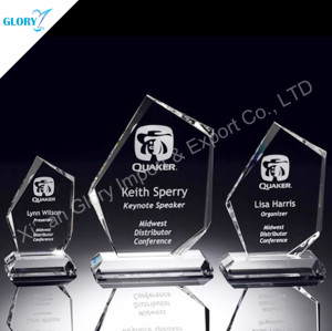 Custom Engraved Crystal Award For Activity Souvenir