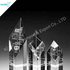 Custom Engraved Trophy Crystal Award