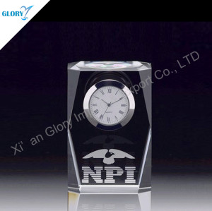 Hot Sale Small Crystal Clock For Souvenir
