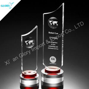Custom Globe Crystal Award Plaques
