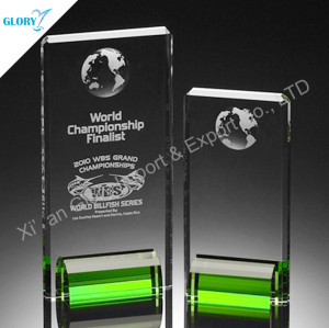 Custom Award Plaques Trophies With Green Base