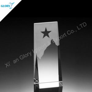 Custom Blank Crystal Award Star