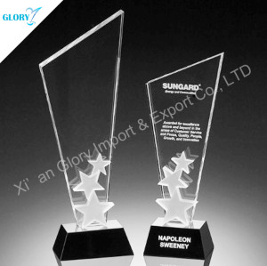 Custom Blank Crystal Award Star