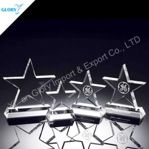 Shininy Crystal Glass Star Trophy