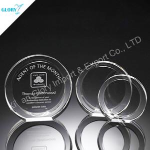 Custom Round Crystal Glass Trophies