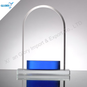 Round Top Colorful Glass Award Blanks