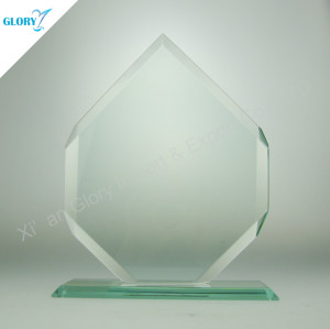 High Quality Blank Jade Glass Trophies