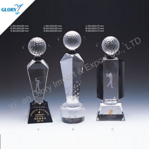 Custom Crystal Golf Trophy