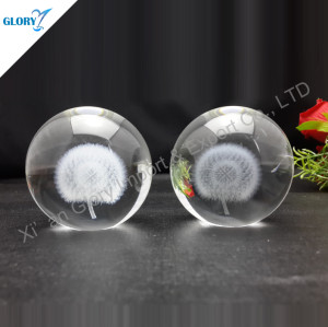 3D Laser Dandelion Crystal Ball For Gift