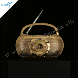 Funny Golden Radio Personalised Trophy