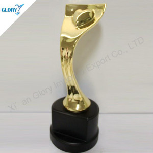 Gold Plated Metal Trophy Award Wholesale