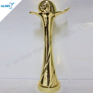 Custom Gold Plated Trophy For Event Souvenir